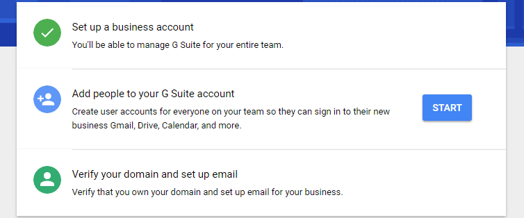 setup a professional email address with g suite