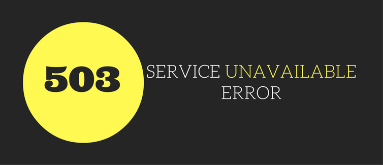 503 service temporarily unavailable error in wordpress