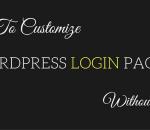 customize wordpress login page without coding