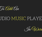 add an audio music player in wordpress sidebar