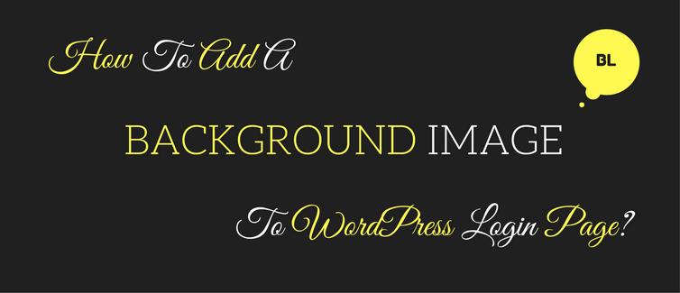 add a background image to wordpress login page