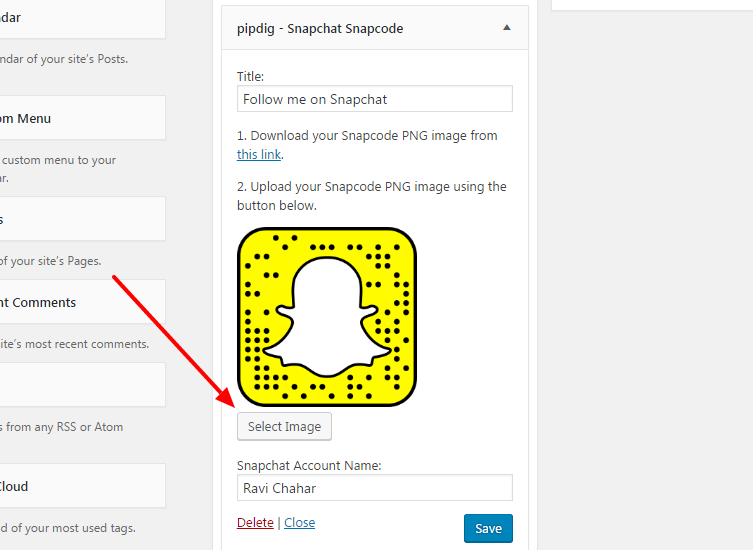 add snapchat snapcode