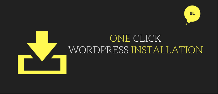 install wordpress using one click installation method