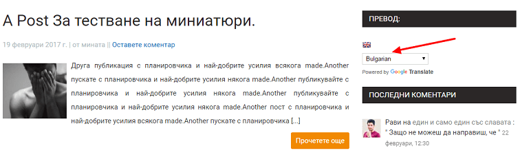 add google language translator