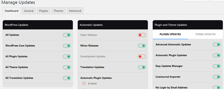manage updates