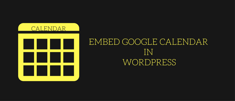 Embed Google calendar in WordPress