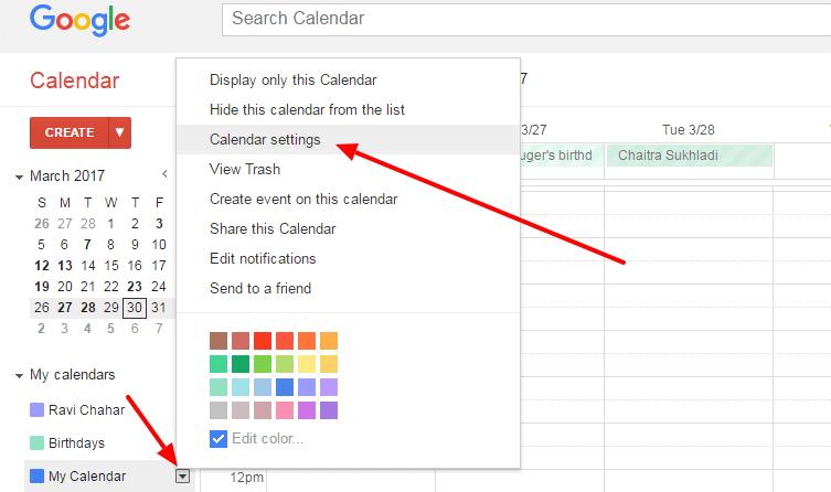 Google calendar adding