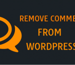 Remove comments from WordPress posts and pages