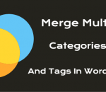Merge multiple categories and tags in WordPress