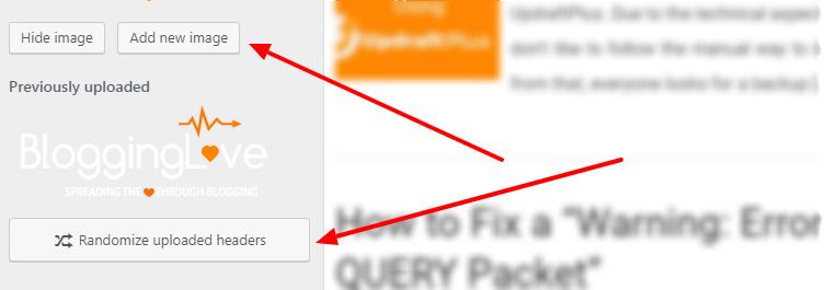 Add random header image in WordPress