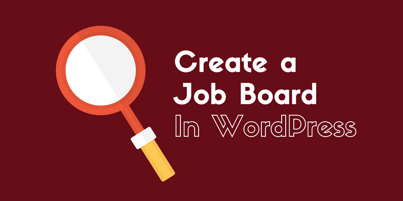 Add a job board in WordPress
